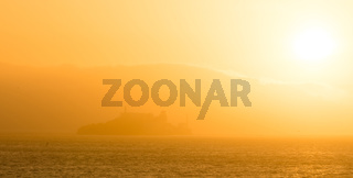 Golden Sunshine Light Bay Area Alcatraz Island