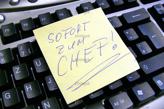 Symbolbild: Sofort zum Chef