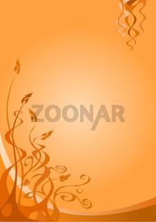 Floraler Hintergrund, orange