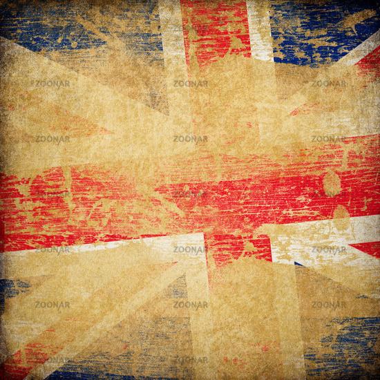 England grunge flag background.