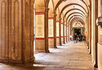 Arcades inside The Benedictine abbey of Santa Maria de Montserrat