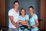 Lachendes Fitness-Team