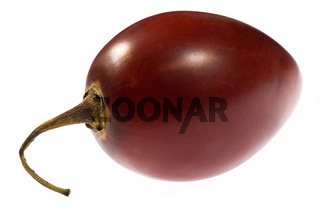 A single tamarillo isolated on white