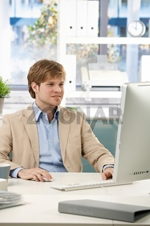 Businessman working in office