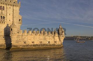 Turm von Belem (Torre de Belem), Lissabon, Portugal, Europa