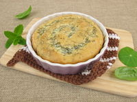 Yeast snail filled with herbs cream cheese