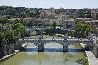 Tiber river, Ponte Vittorio Emanuele II, bridge, Tiber River, Rome, Italy, Europe