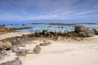 Kerlouan Strand in der Bretagne, Finistere in Frankreich - Kerlouan beach in Finistere in Brittany, France