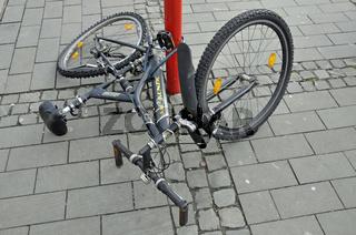 beschädigtes Fahrrad