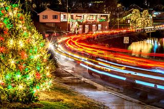 Outdoor christmas decorations at christmas town usa