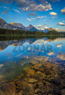 Spillway Lake and the Opal Range, Peter Lougheed Provincial Park