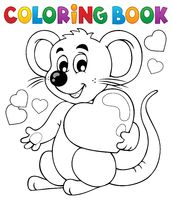 Coloring book Valentine topic 1