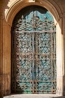 Delicate wrought-iron door on the Grandmaster's Palace, Valletta, Malta