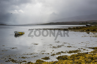 Scottish Landscape with Sea and Clouds