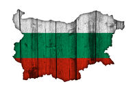 Karte von Bulgarien auf Textur - Textured map of Bulgaria