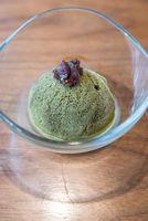 Green tea sherbet ice cream