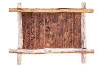 Wood empty frame isolated on white