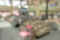 shopping mall blur background