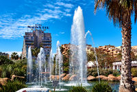 Marina d'Or garden in the Oropesa del Mar resort town. Spain
