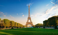 Eiffel Tower in the morning