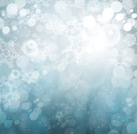 Beautiful Winter Abstract Snowflakes Background