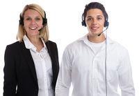 Call Center Agent Team Sekretärin Headset Telefon Business Freisteller