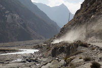 Dust Road in Annapurna Region, Nepal
