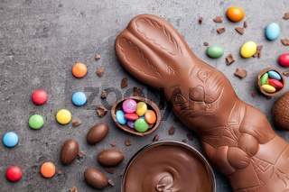 Delicious chocolate Easter bunny