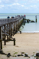 Pier on the island of Noirmoutier, France
