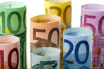 Euro banknote rolls