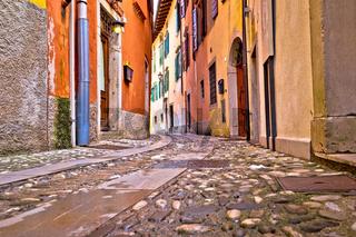 Colorful cobbled street of Cividale del Friuli