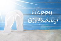 Sunny Summer Background, Text Happy Birthday