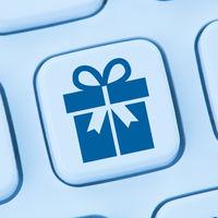 Geschenke Geschenk online Shopping einkaufen bestellen Internet blau Computer web