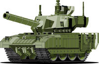 Cartoon modern armored tank