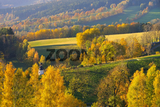 Riesengebirge im Herbst - Giant  Mountains in autumn, Bohemia