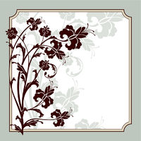 vector floral frame