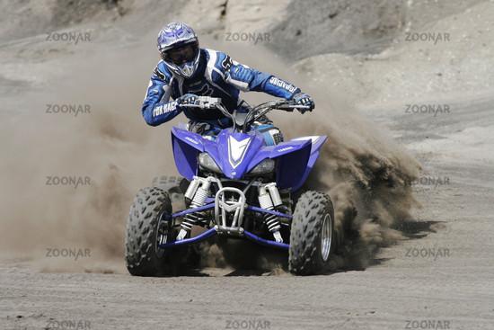 Yamaha Quad in action