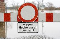Sperre wegen Hochwasser