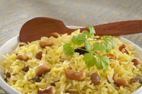 Indian Basmati Rice Pilau Close-up