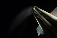 Powerplant chimney at night