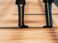 Legs and feet of honor guard in Arlington Cemetery