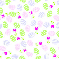 Seamless pattern of Easter eggs
