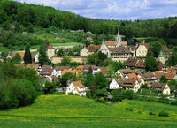 monastery, village, Germany,