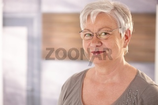 Portrait of senior woman with glasses