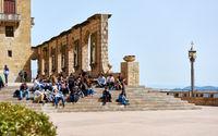 The Benedictine abbey of Santa Maria de Montserrat. Spain