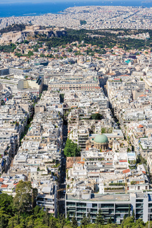 Modern Athens shot from Lycabettus hill