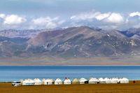 Tourist Yurt Camp at Song Kol Lake, Central Kyryzstan