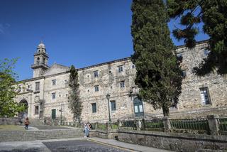 historic old town area of santiago de compostela spain