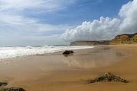 Deserted beach of Porto de Mos