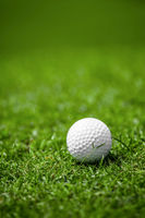 Golfball on course